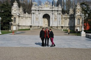 Outside the Gate at Dolmabahce Palace