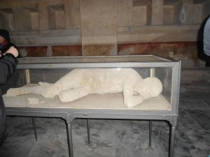 Plaster of a Body from Pompei