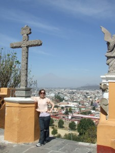 View from the church atop the Pyramid of Cholula - Cholula, Puebla, Mexico