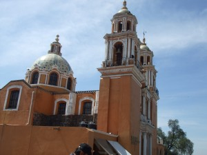 Church atop the pyramid of Cholula - Cholula, Puebla, Mexico