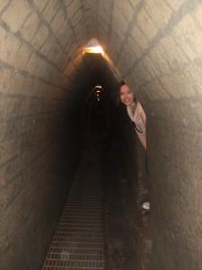 Me inside the tunnels of the Pyramid of Cholula - Cholula, Puebla, Mexico