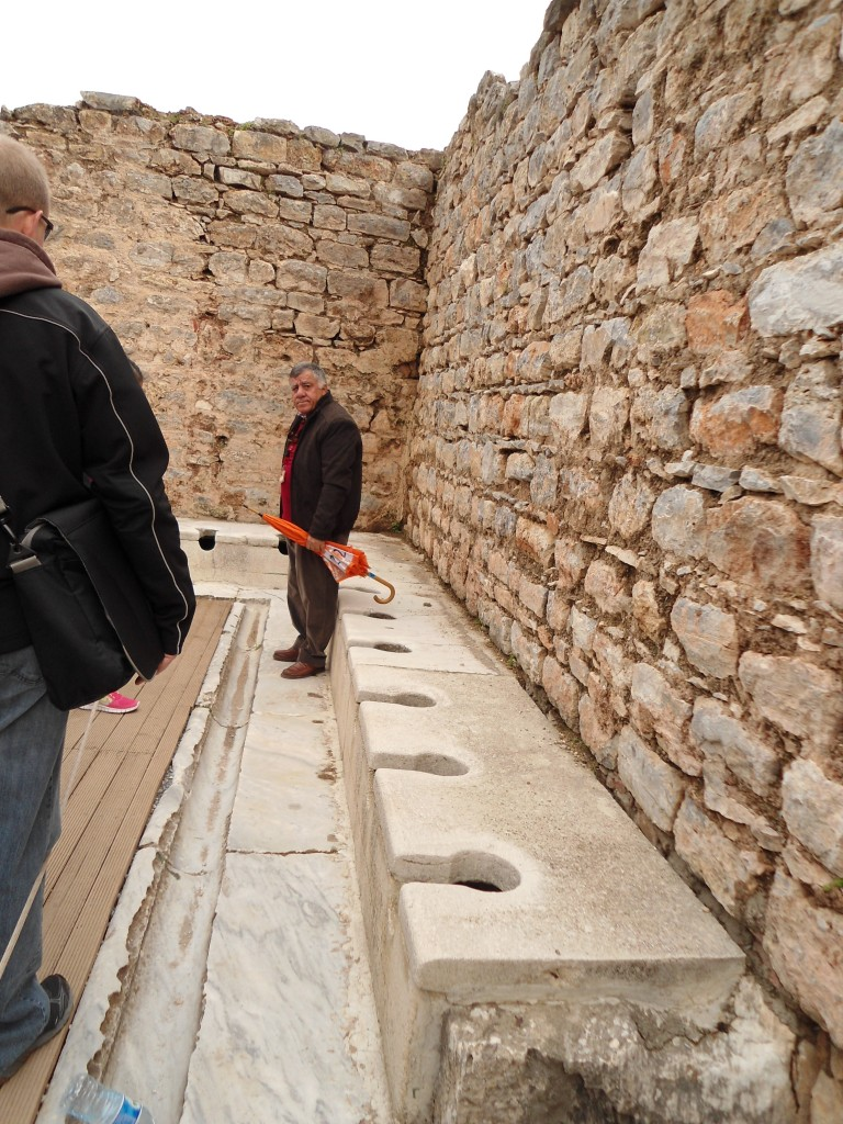 Toilets and sewage system in Ephesus