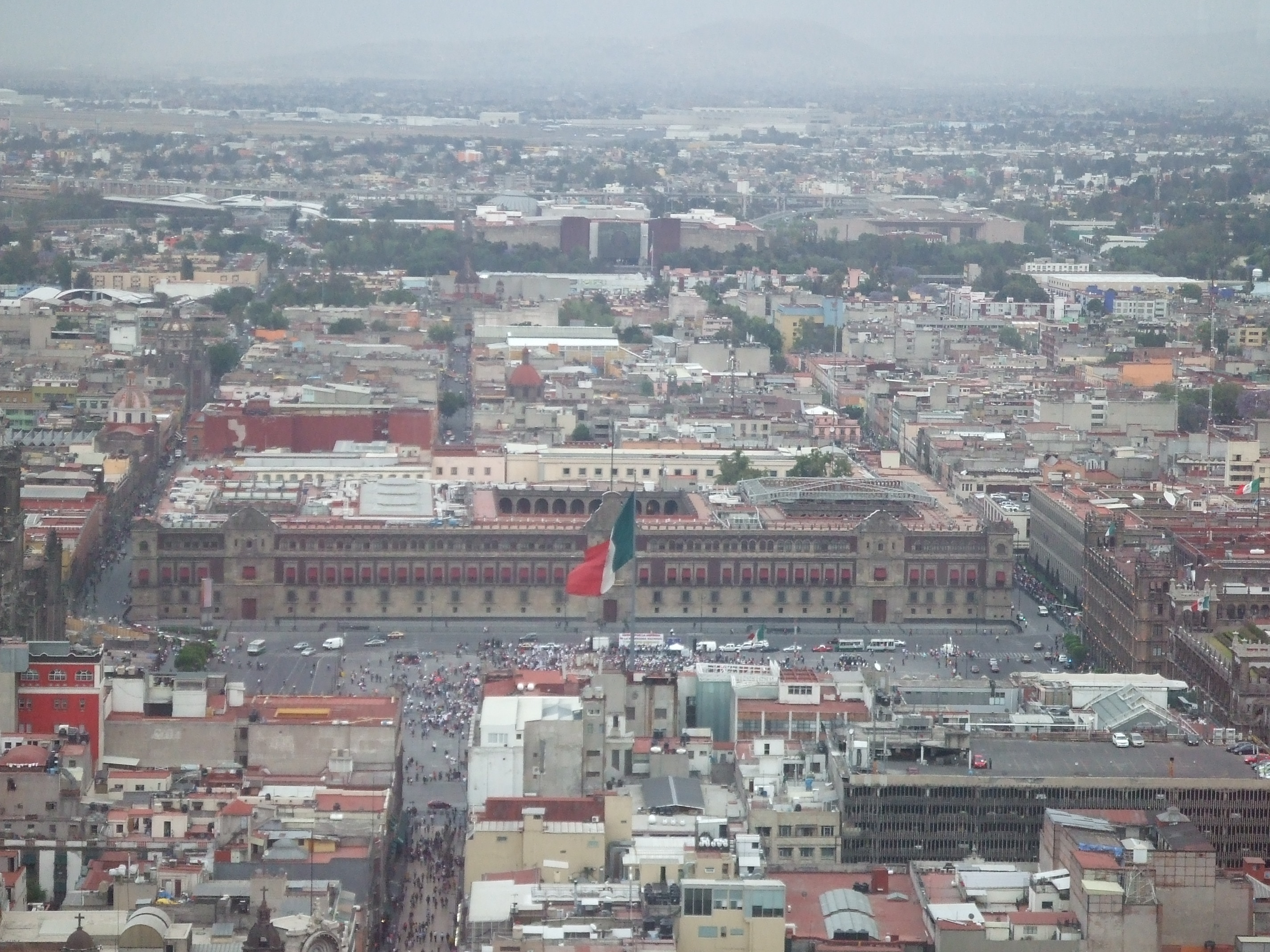View of the Zocalo from the tower.