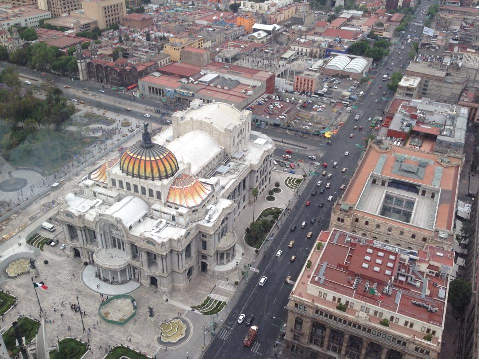 Bellas Artes from above.