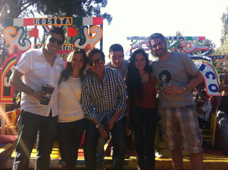 "My Xochimilco ""shipmates"" - France, Mexico, and the US represented :)"
