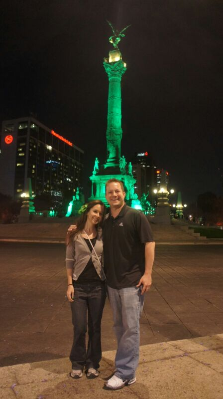 Global Greening 2014 - Angel de la Independencia - Mexico City