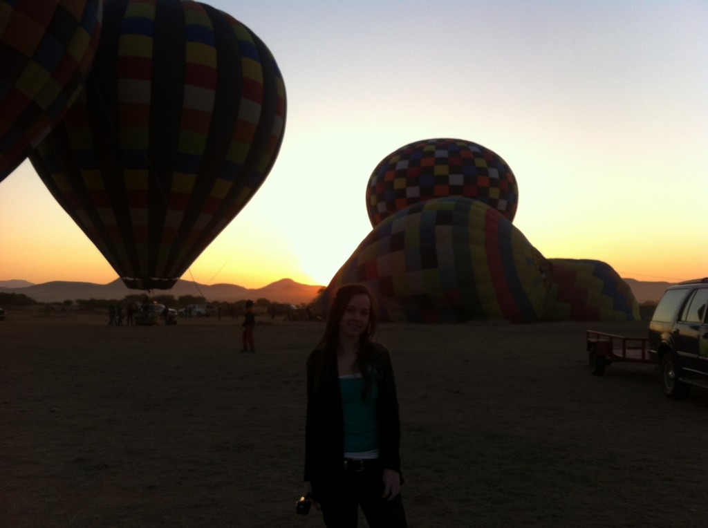 Sunrise: Time to inflate the balloons