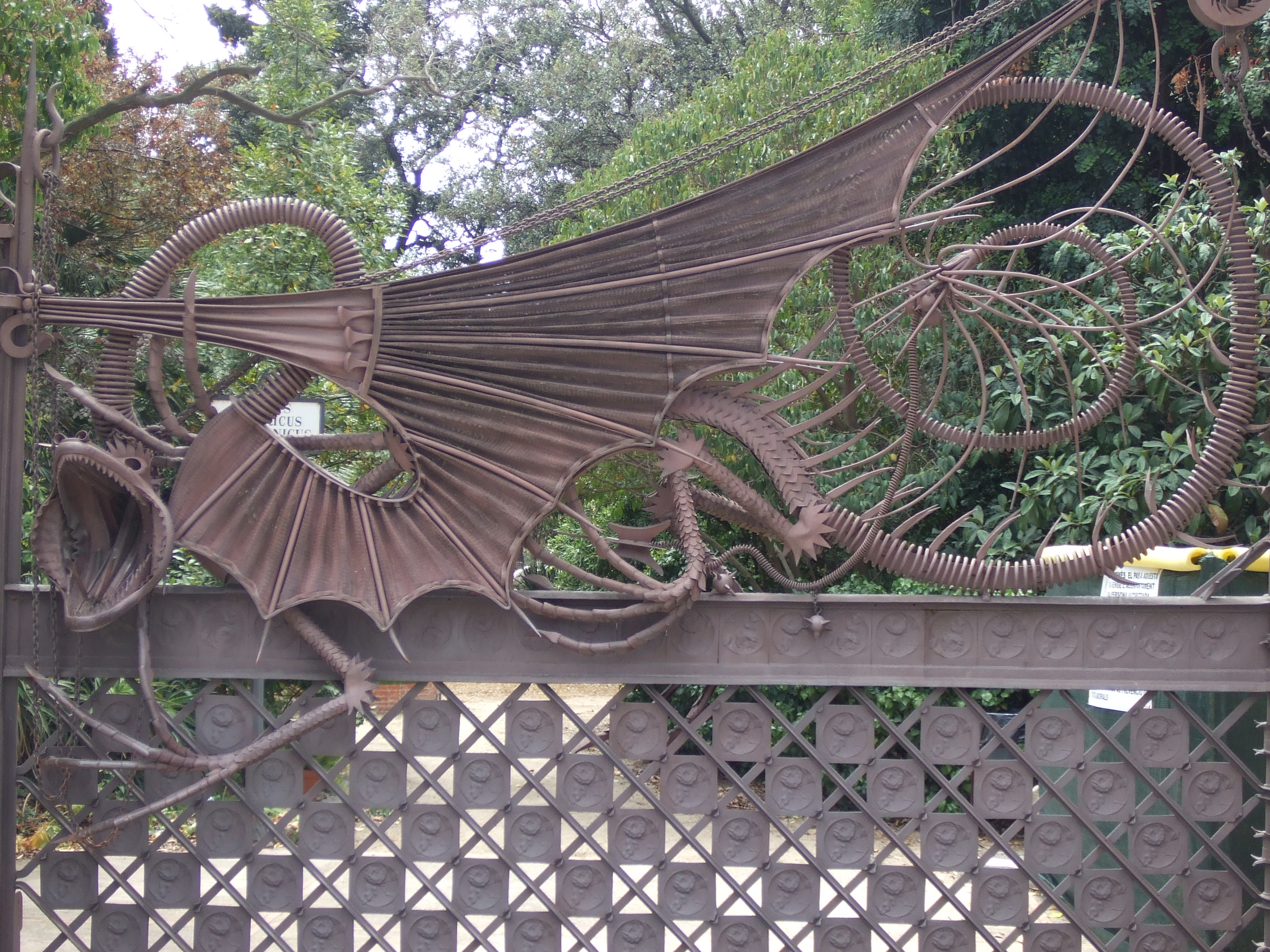 Cool dragon fence on a Gaudi-designed property in Barcelona.